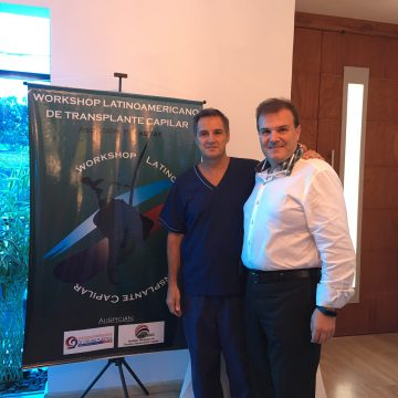 Workshop Latino Americano de FUE. Junto com o DR. Trivellini, especialistas em transplante de Cabelos no Uruguai.